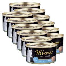 Konzerva Miamor Filet tuňák a krevety 12 x 100 g