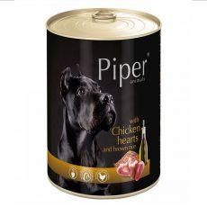 Konzerva Piper Adult s kuřecími srdci a hnědou rýží 400 g