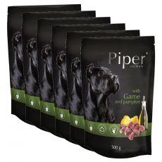 Kapsička Piper Adult se zvěřinou a dýní 6 x 500 g