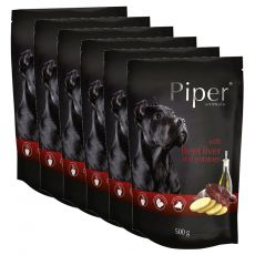 Kapsička Piper Adult s hovězími játry a bramborami 6 x 500 g