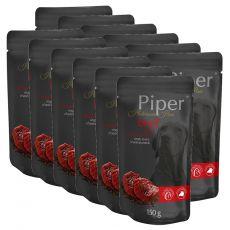 Kapsička Piper Platinum Pure hovězí a hnědá rýže 12 x 150 g