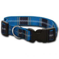 Nylonový obojek pro psa – károvaný modrý 1 x 20–32 cm