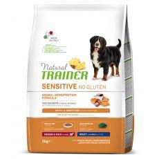 TRAINER Natural SENSITIVE No Gluten Adult Medium / Maxi Salmon 3 kg