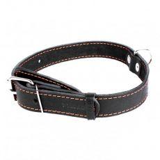COLLAR kožený obojek pro psa černý 32–40 cm, 20 mm