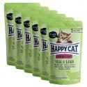 Kapsička Happy Cat ALL MEAT Adult Sterilised Veal & Lamb 6 x 85 g