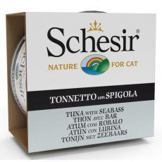 Schesir cat tuňák a mořský okoun v želé 85 g
