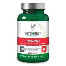 Vet´s Best žvýkací tablety na srst a kůži pro psy 60 ks
