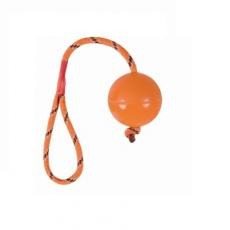 Gumový míček pro psa, na šnúrce - 6 cm