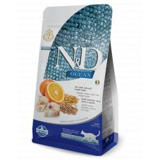 Farmina N&D cat OCEAN Adult Cod, Spelt, Oats & Orange Adult 5 kg