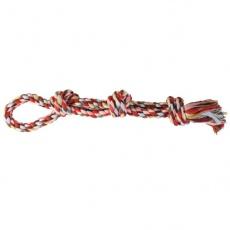 Hračka pro psy - bavlněný provaz s uzlem - 60 cm