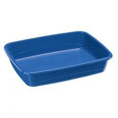 Toaleta pro kočky bez okraje modrá 46 x 35 x 12 cm