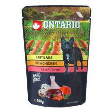 Kapsička ONTARIO DOG Cartilage with Chicken in broth 100 g
