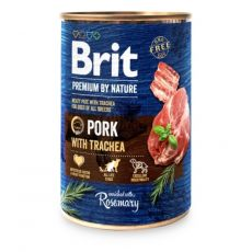 Konzerva Brit premium by Nature Pork & Trachea 400 g