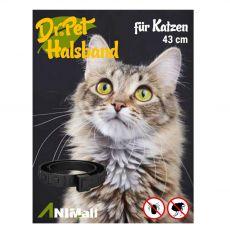 Dr.Pet antiparazitární obojek pro kočky ČERNÝ 43 cm