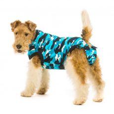 Pooperační oblečení pro psa S+ kamufláž modrá