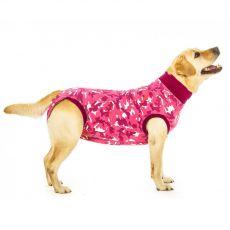 Pooperační oblečení pro psa M+ kamufláž růžová