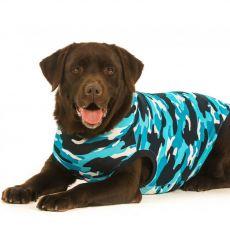 Pooperační oblečení pro psa XL kamufláž modrá