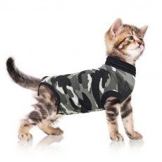 Pooperační oblečení pro kočku XXXS kamufláž