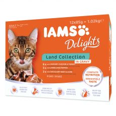 Iams Cat Multibox kapsičky ze suchozemského masa 12 x 85 g