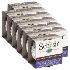 Schesir cat kuřecí a hovězí s rýží 12 x 85 g