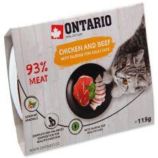Vanička ONTARIO chicken & beef with taurine 115 g