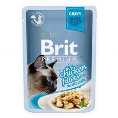 Kapsička BRIT Premium Cat Chicken in Gravy 85 g