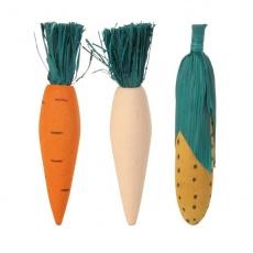 Dřevěné hračky pro hlodavce - 3 ks zeleniny - 10 cm