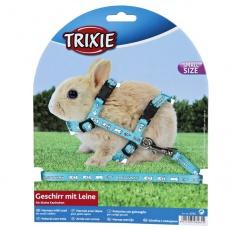 Postroj s vodítkem pro zakrslé králíky - světle modrý