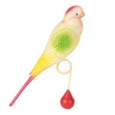 Hračka pro ptáky - andulka s kuličkou, 15 cm