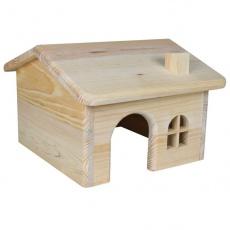 Domek pro hlodavce, šikmá střecha - malý