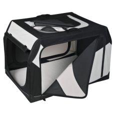 Přepravní box pro psa s kovovým rámem - 91 × 58 × 61 cm
