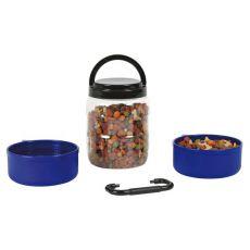 Přenosný box na granule se dvěma miskami 750 ml