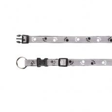 Obojek pro psa, reflexní - M - L, 35 - 55 cm