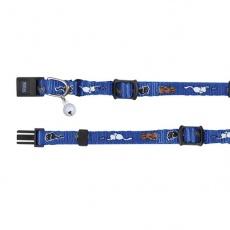 Obojek pro kočky s motivem, modrý - 15–20 cm