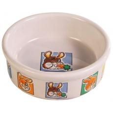 Miska pro králíky keramická s obrázky - 300 ml