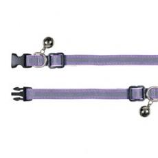 Obojek pro kočky, reflexní fialový - 15–20 cm
