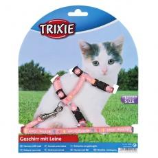 Postroj s vodítkem pro koťátko Kitty Cat, růžový