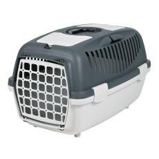 Přepravní box pro psa do 8 kg - šedý