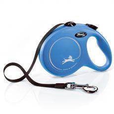 Flexi NEW CLASSIC vodítko L do 50 kg, 5m popruh – modré