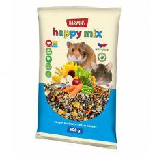 Darwin's Happy Mix krmivo pro drobné hlodavce 500 g