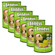 Benevo Duo kompletní krmivo pro kočky a psy 6 x 369 g