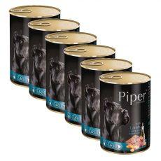 Konzerva Piper Adult s jehněčím, mrkví a hnědou rýží 6 x 400 g