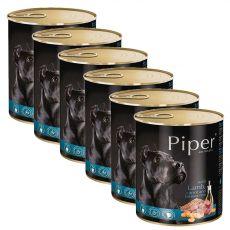 Konzerva Piper Adult s jehněčím, mrkví a hnědou rýží 6 x 800 g