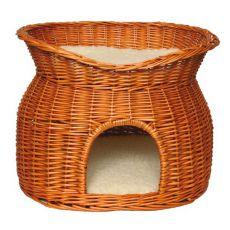 Pelech pro psy a kočky, proutěný - jeskyně