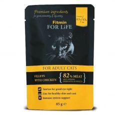 Fitmin Cat For Life Chicken kapsička 85 g