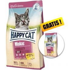 Happy Cat Minkas Sterilised 10 kg + DÁREK