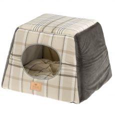 Ferplast Edinburg domeček pro kočky hnědý 44 x 44 cm