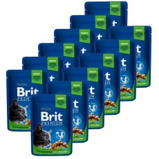 Kapsička BRIT Premium Cat Chicken Slices for Sterilised 12 x 100 g