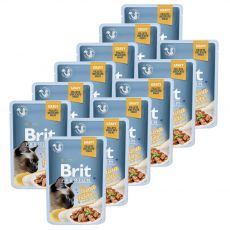 Kapsička BRIT Premium Cat Delicate Fillets in Gravy with Tuna 12 x 85 g