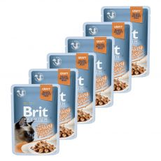 Kapsička BRIT Premium Cat Delicate Fillets in Gravy with Turkey 6 x 85 g